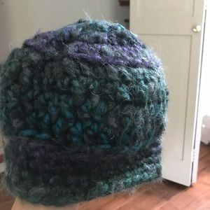 Never worn hand-crocheted beanie hat